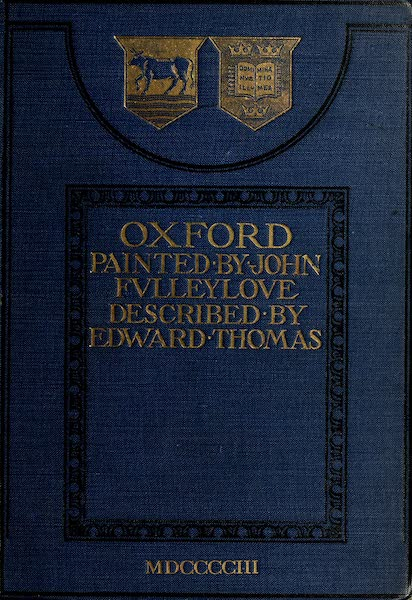 Oxford Painted and Described - Front Cover (1903)