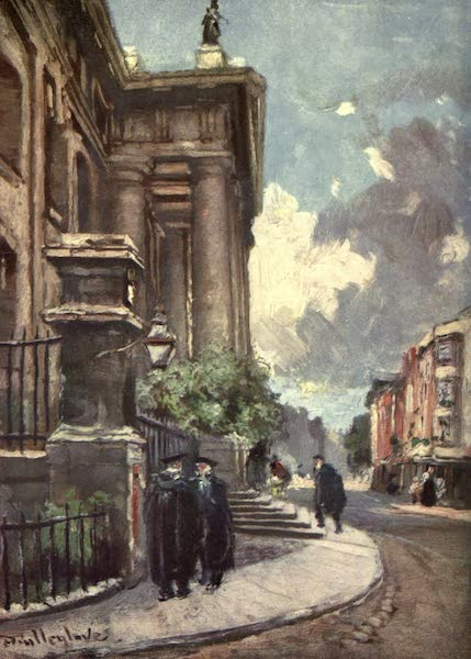 Oxford Painted and Described - The Clarendon Building, Broad Street - Mr. John Fulleylove, R.I (1903)