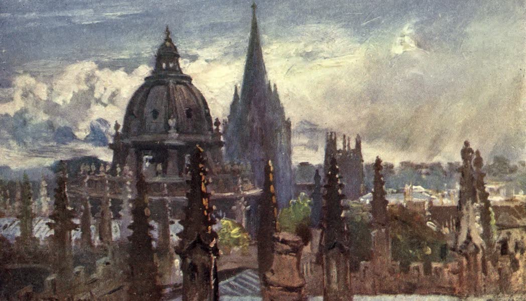 Oxford Painted and Described - Oxford, from the Sheldonian Theatre (1903)