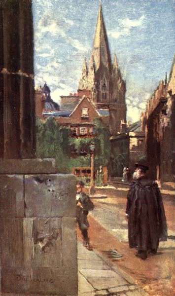 Oxford Painted and Described - The University Church of St. Mary - Mr. John Fulleylove, R.I (1903)