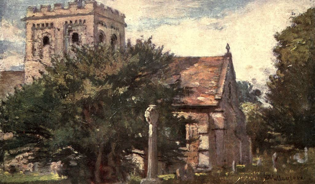 Oxford Painted and Described - Iffley Church from the South-East - Mr. J. W. Taphouse (1903)