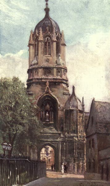 Oxford Painted and Described - Tom Tower, Christ Church College - Mr. F. E. Sidney, F.S.A (1903)