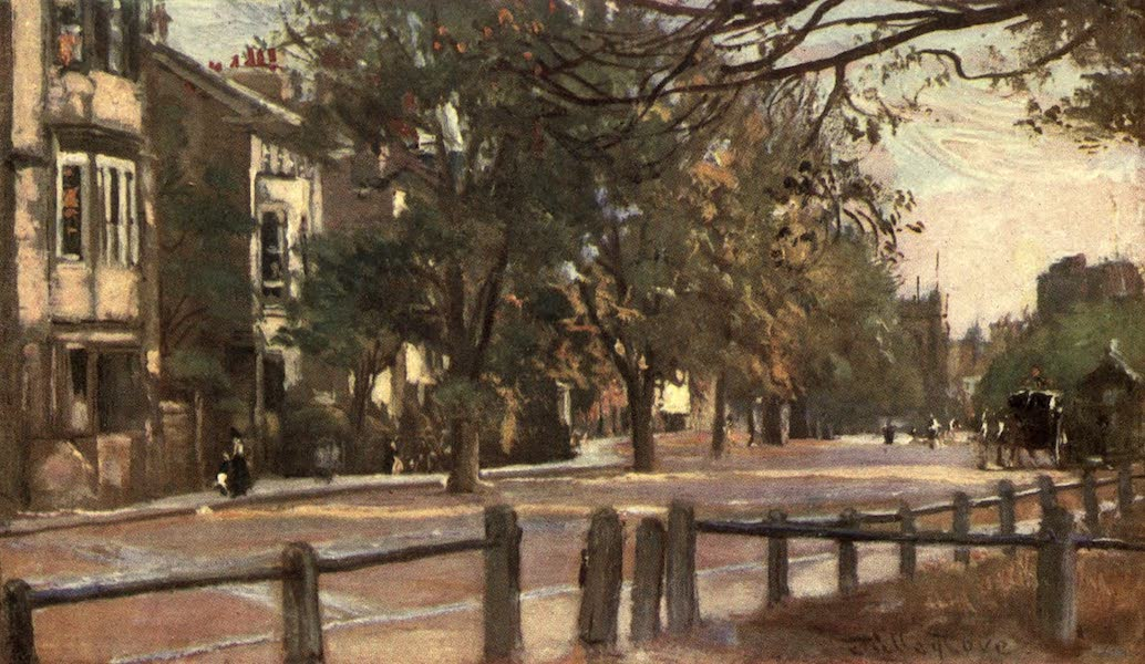 Oxford Painted and Described - St. Giles's, looking towards St. Mary Magdalen (South) - Rev. George Wharton, M.A (1903)