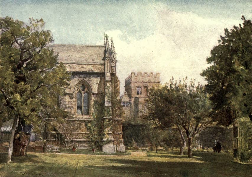 Oxford Painted and Described - University College - Private Garden of the Master - Mr. J. W. Taphouse (1903)