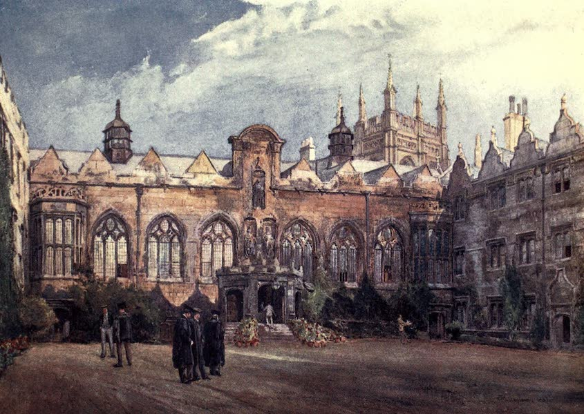 Oxford Painted and Described - Oriel College - The Royal Institute of Painters in Water-Colours -  (1903)