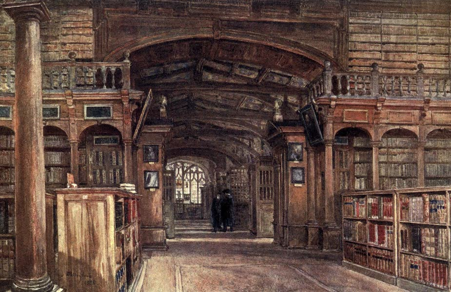 Oxford Painted and Described - Interior of the Bodleian Library - Mr. John Fulleylove, R.I (1903)
