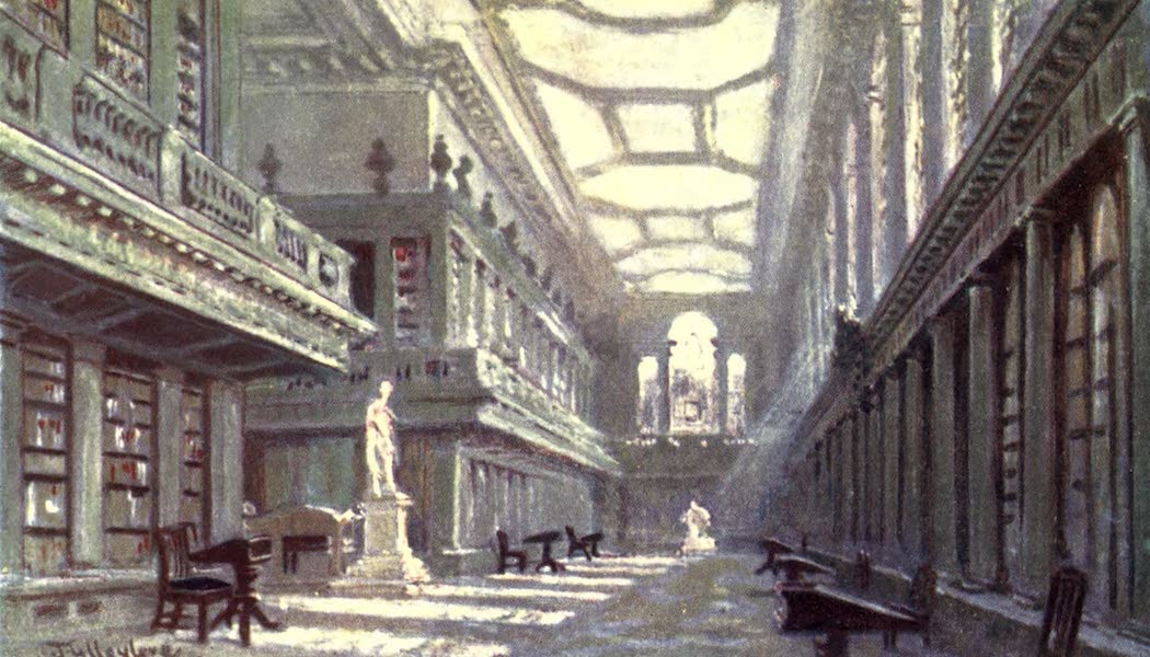 Oxford Painted and Described - Interior of the Library, All Souls' College - Sir William R. Anson, Bart., D.C.L., M.P (1903)