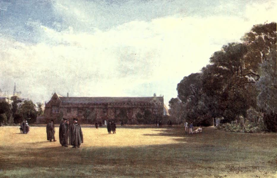 Oxford Painted and Described - St. John's College - Mr. John Fulleylove, R.I (1903)