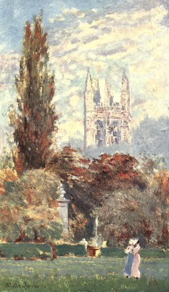 Oxford Painted and Described - Magdalen Tower and Botanic Garden - Mr. John Fulleylove, R.I (1903)