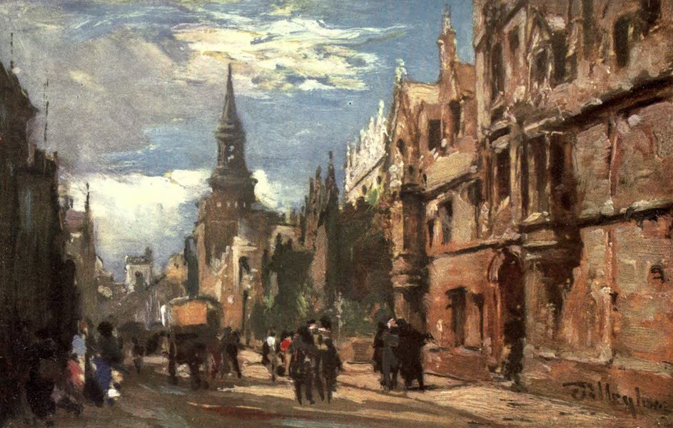Oxford Painted and Described - All Souls' College and the High Street - Mr. F. P. Osmaston, M.A (1903)
