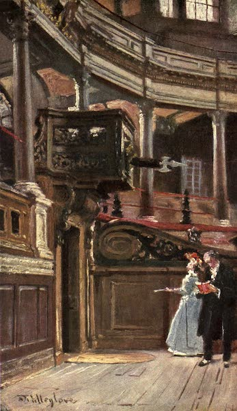 Oxford Painted and Described - Interior of the Sheldonian Theatre - Mr. John Fulleylove, R.I (1903)