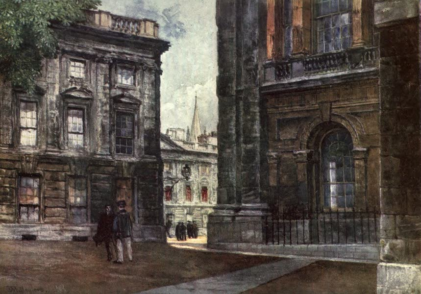 Oxford Painted and Described - Christ Church - Peckwater Quadrangle - Mr. J. W. Taphouse (1903)