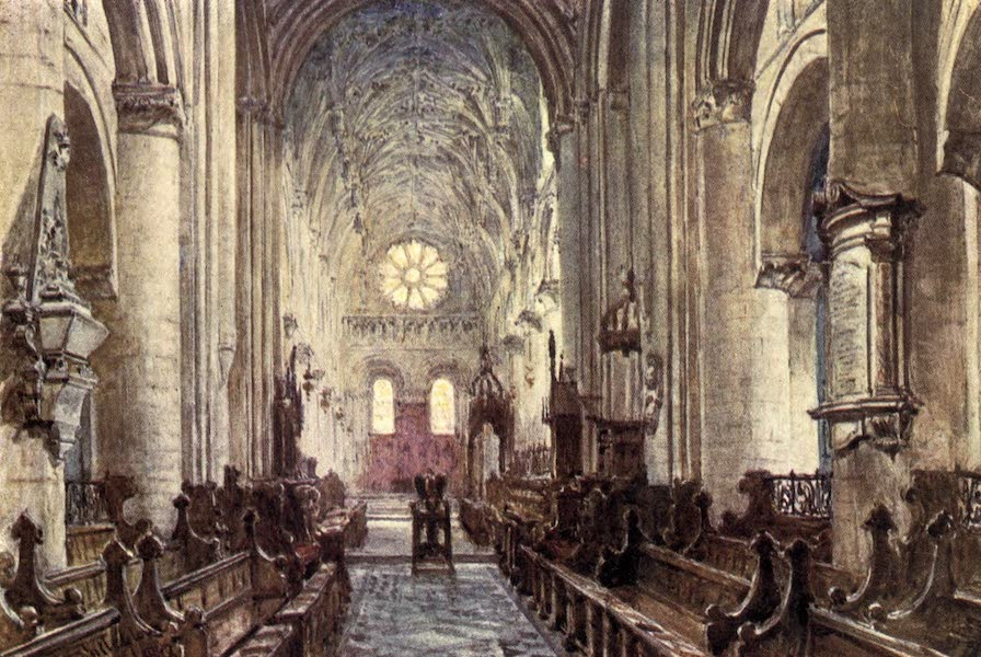 Oxford Painted and Described - Interior of the Cathedral of Christ Church - Mr. James Orrock, R.I (1903)