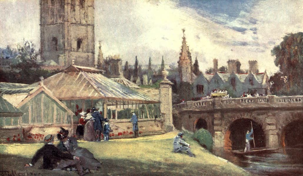 Oxford Painted and Described - Magdalen College, from the Botanic Garden - Mr. J. W. Taphouse (1903)