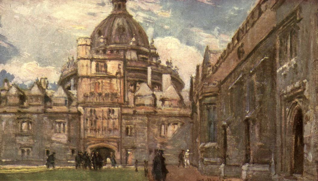 Oxford Painted and Described - The Radcliffe Library, or Camera Bodleiana, from Brasenose College Quadrangle - Mr. Henry Silver (1903)