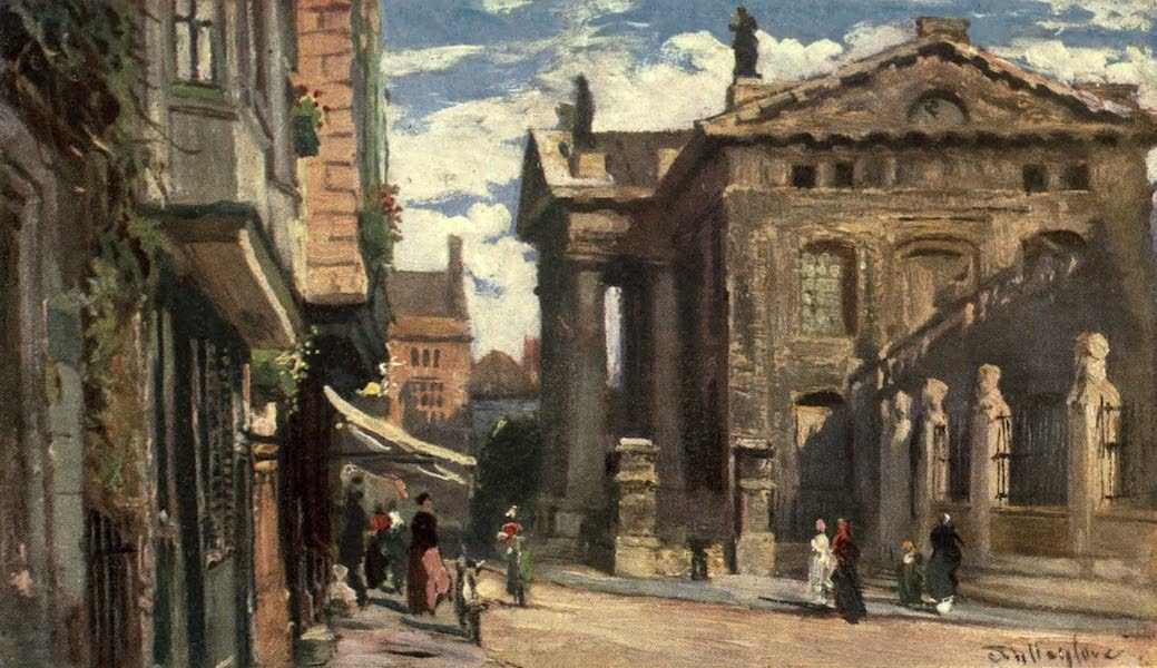 Oxford Painted and Described - The Clarendon Building, looking East - Mr. Henry Silver (1903)
