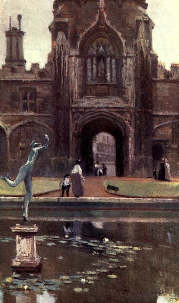 Oxford Painted and Described - Christ Church College - Tom Quadrangle - Mr. Edgar J. Elgood, M.A (1903)