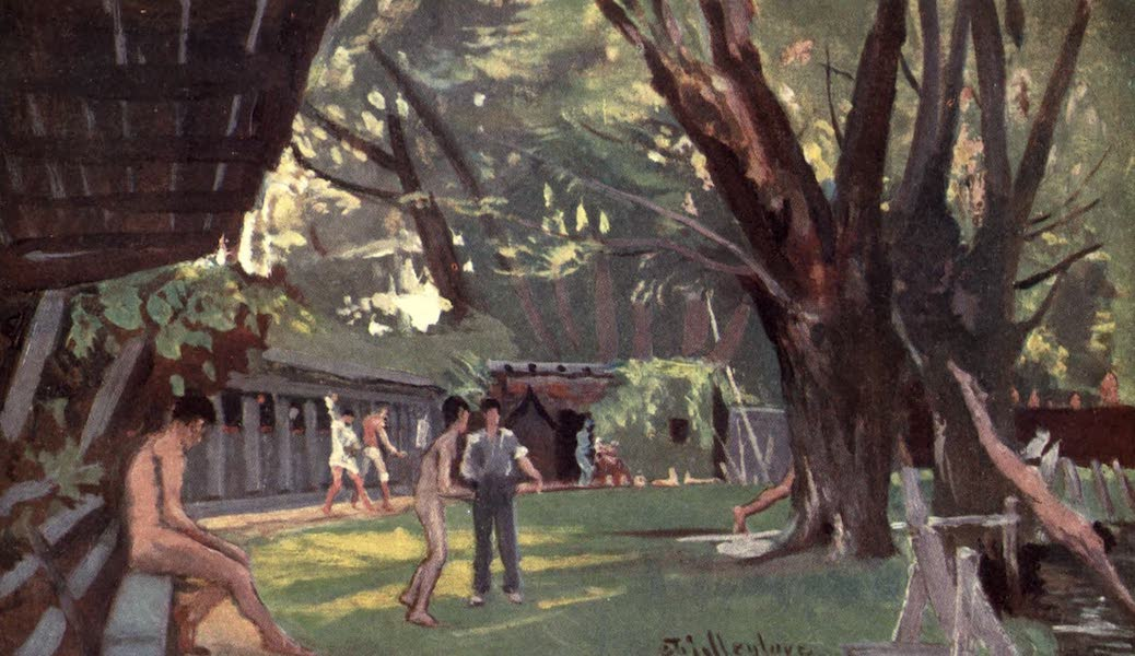 Oxford Painted and Described - The Bathing Sheds, or