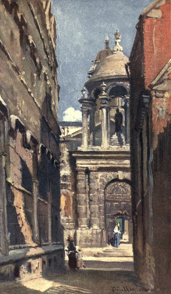 Oxford Painted and Described - The Entrance to Queen's College from Logic Lane - Mr. Horace Field, F.R.I.B.A (1903)