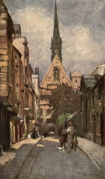 Oxford Painted and Described - Exeter College Chapel, from Ship Street - Mr. J. W. Taphouse (1903)