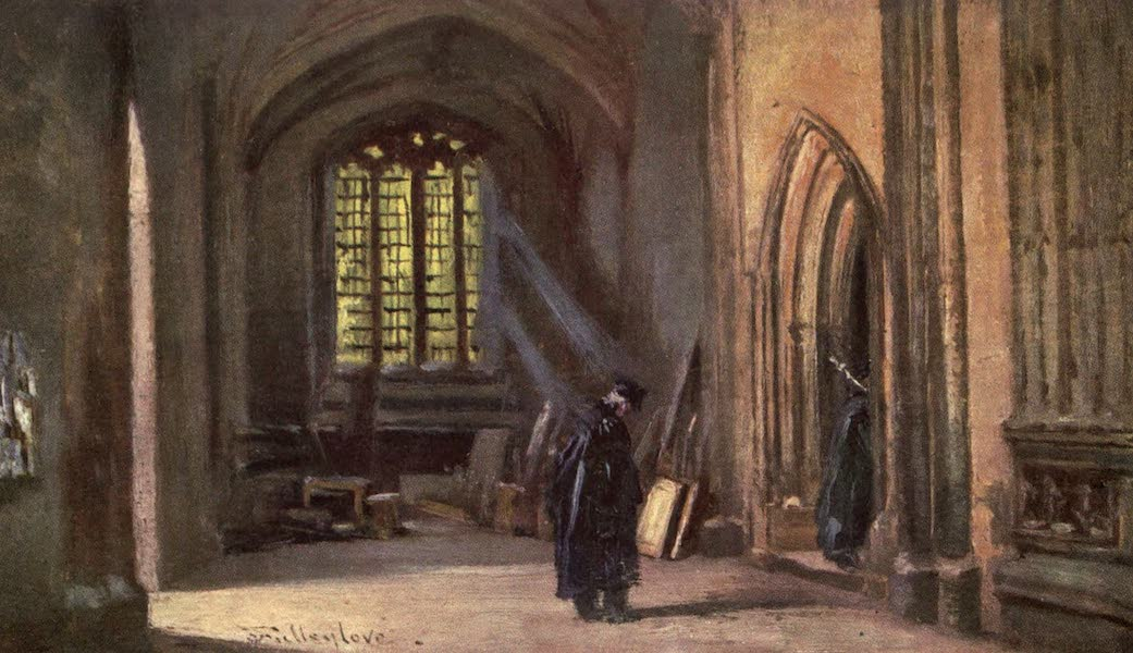 Oxford Painted and Described - Entrance to the Divinity School - Mr. John Fulleylove, R.I (1903)