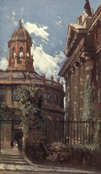 Oxford Painted and Described - The Sheldonian Theatre and Old Clarendon Buildings - Mr. John Fulleylove, R.I (1903)