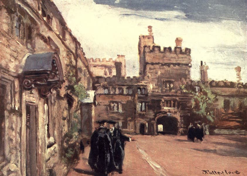 Oxford Painted and Described - Jesus College - Mr. John Fulleylove, R.I (1903)
