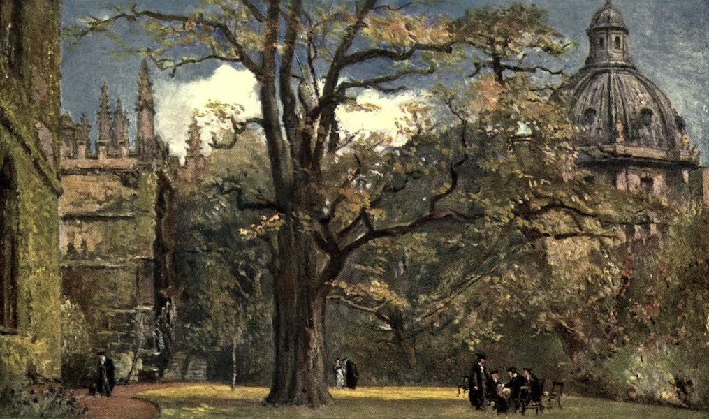 Oxford Painted and Described - Fellows' Garden, Exeter College - Mr. J. W. Taphouse (1903)