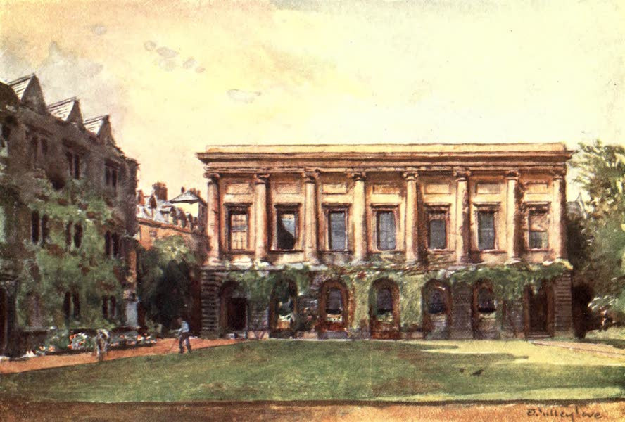 Oxford Painted and Described - The Library, Oriel College - Mr. C. F. Bell, M.A (1903)