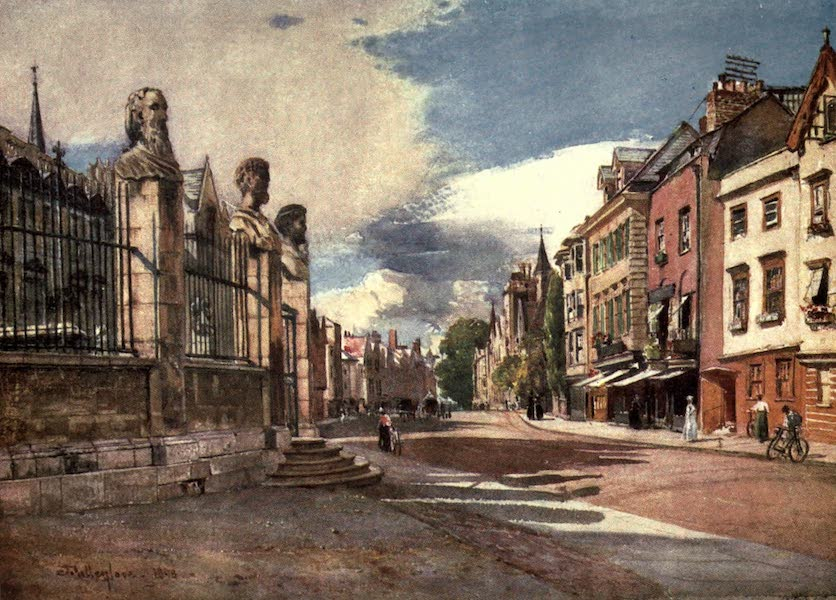 Oxford Painted and Described - Broad Street, looking West - Mr. Walter S. S. Tyrwhitt, M.A (1903)