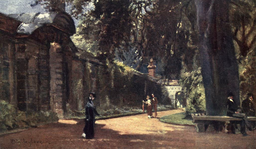 Oxford Painted and Described - The Botanic Garden - Mr. Christopher Bradshaw -  (1903)