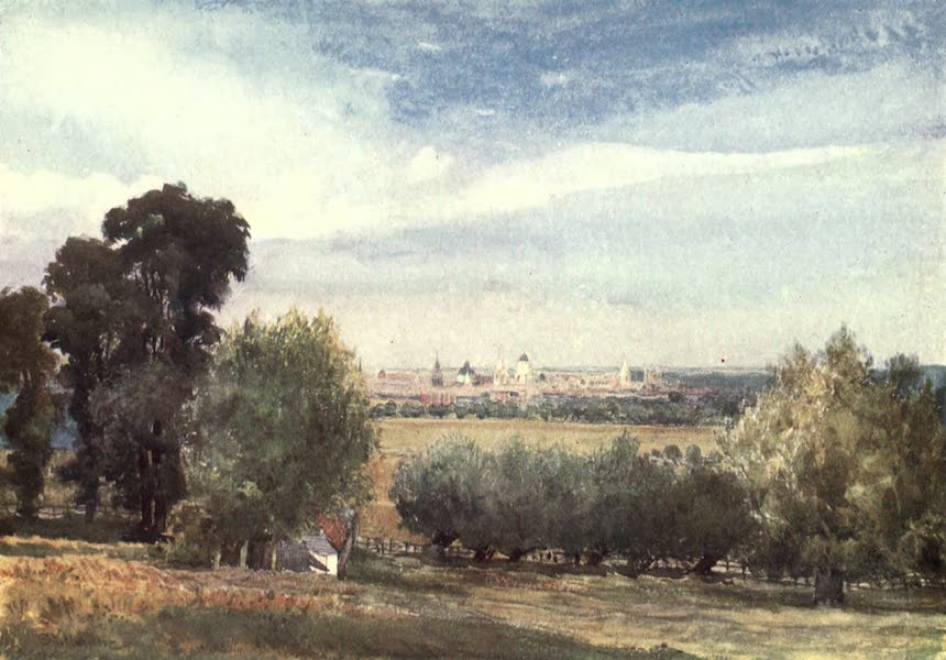 Oxford Painted and Described - Oxford, from South Hinksey - Mr. J. W. Taphouse (1903)