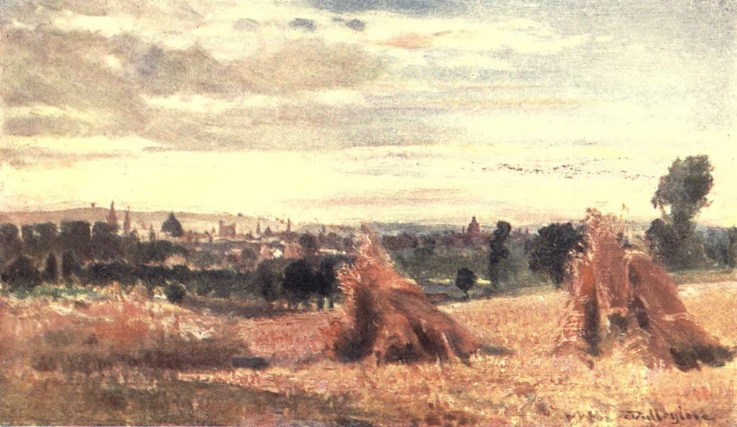 Oxford Painted and Described - Oxford from Headington Hill - Mr. J. W. Taphouse (1903)