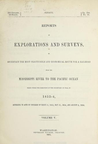 American Southwest - Pacific Railroad Survey Reports Vol. 5