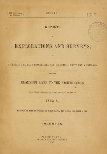 American Southwest - Pacific Railroad Survey Reports Vol. 9