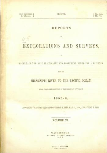 American Southwest - Pacific Railroad Survey Reports Vol. 11