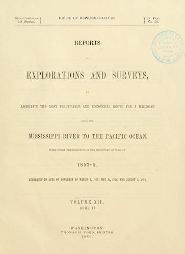 Wyoming - Pacific Railroad Survey Reports Vol. 12, Pt. 2