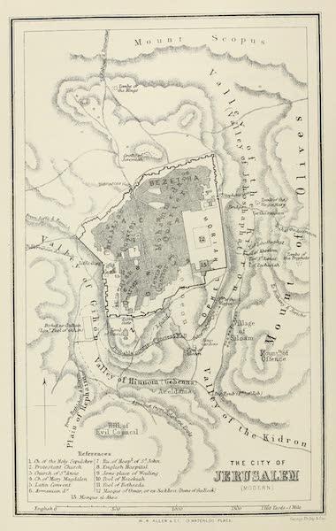 Palestine Illustrated - The City of Jerusalem (Modern) (1888)