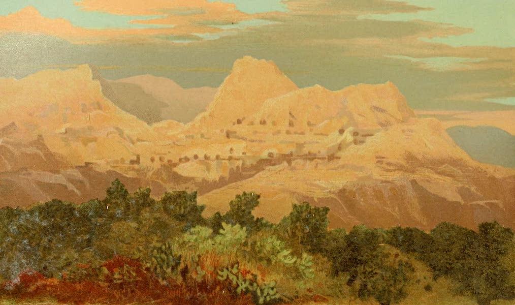 Palestine Illustrated - Mount Quarantania from Jericho (1888)