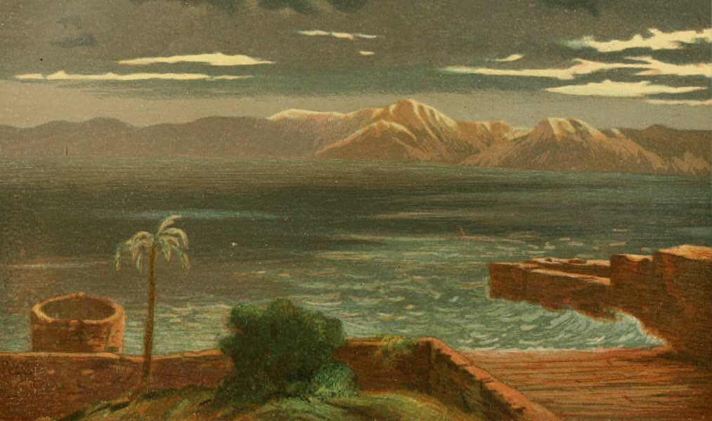 Palestine Illustrated - Storm on the Lake of Gennesareth (1888)