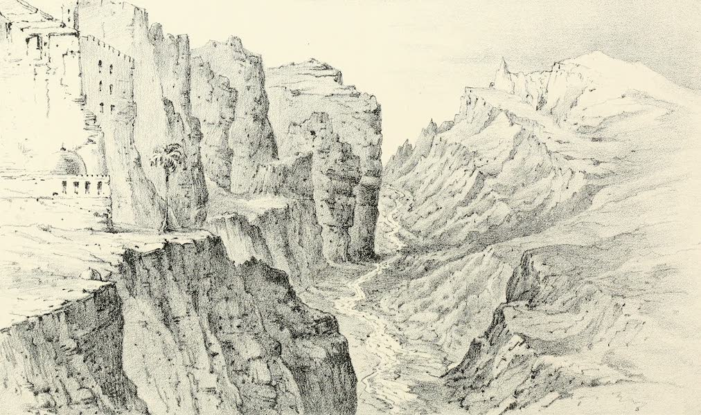 Palestine Illustrated - Lower Ravine of the Kedron from the Convent of Mar Saba (1888)