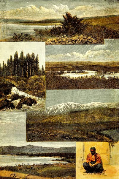 Palestine, Past and Present. Pictorial and Descriptive - Views on the River Jordan (1890)