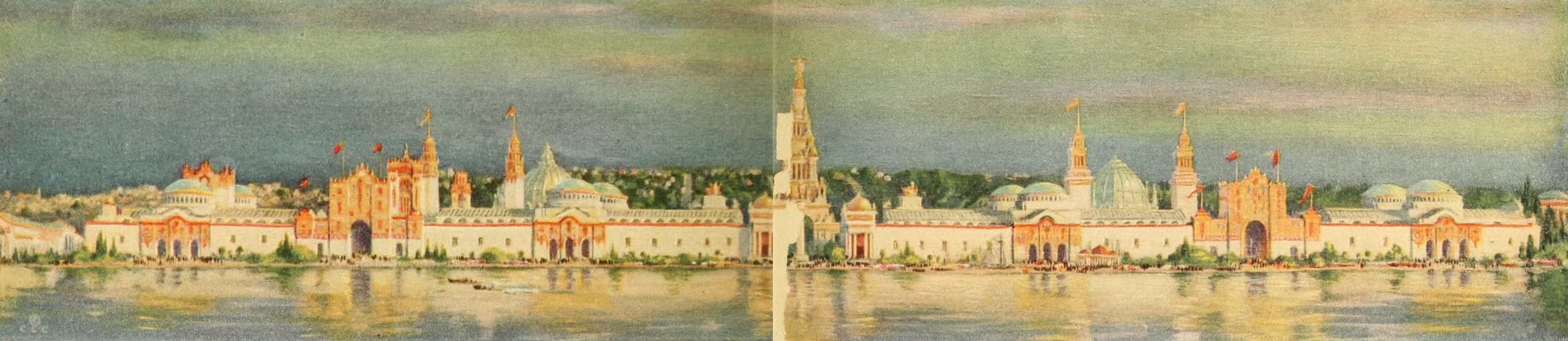 Panama-Pacific International Exposition - Panorama of Exhibit Palaces from San Francisco Bay (1913)