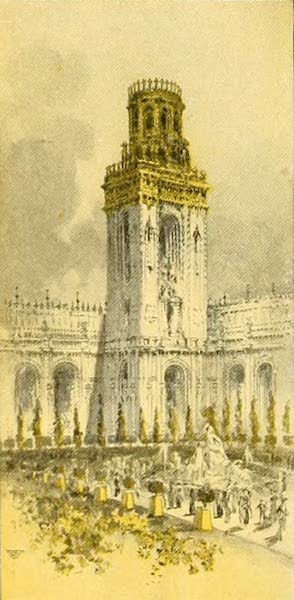 Panama-Pacific International Exposition - Tower in Court of Abundance (1913)