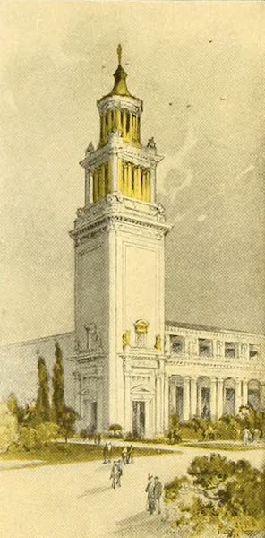 Panama-Pacific International Exposition - Tower in Court of Palms (1913)
