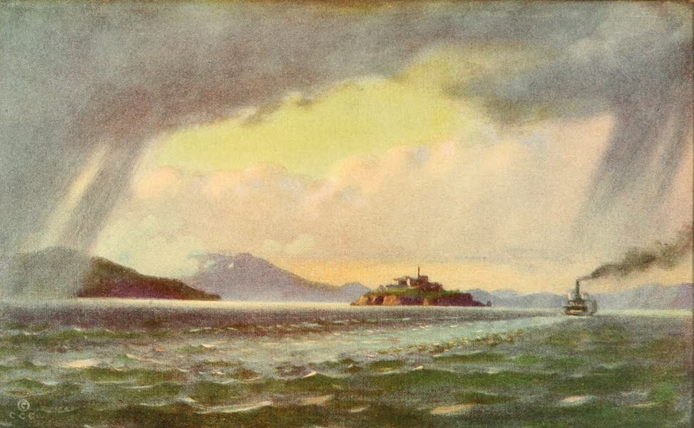 Panama-Pacific International Exposition - Alcatraz Island and San Francisco Bay from the Exposition (1913)