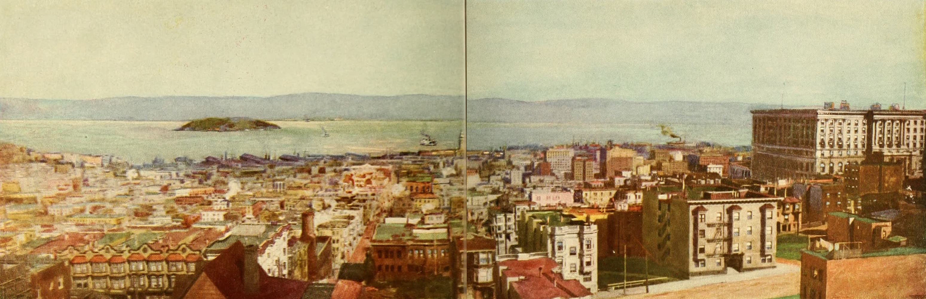 Panama-Pacific International Exposition - San Francisco from Nob Hill (1913)
