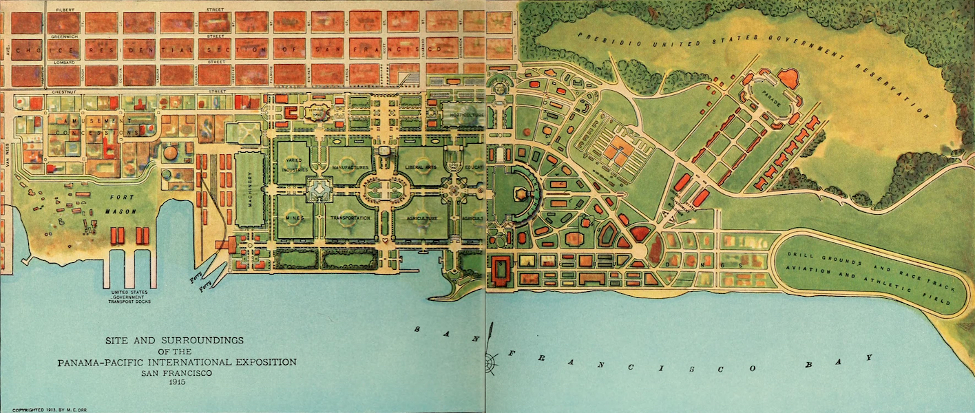 Panama-Pacific International Exposition - Block Plan of the Exposition (1913)