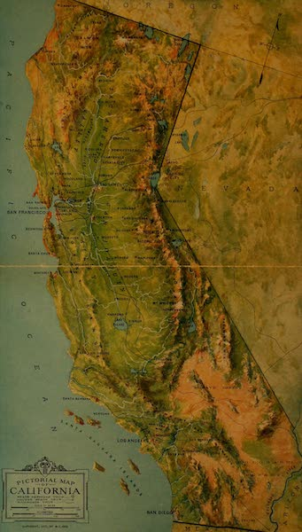 Panama-Pacific International Exposition - Pictorial Map of California (1913)