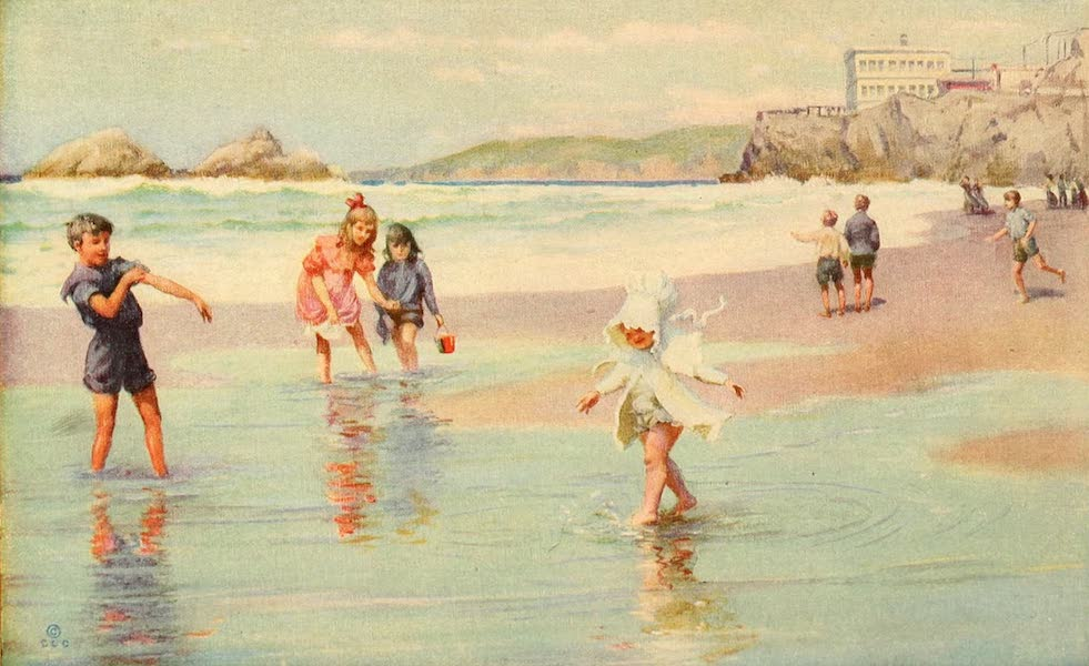 Panama-Pacific International Exposition - The Beach, Seal Rocks, Cliff House, San Francisco (1913)